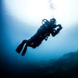 Diver Ascending on the Wall