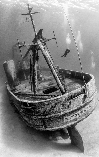 Stern of The SS Kittiwake,  Artificial reef in Grand Cayman