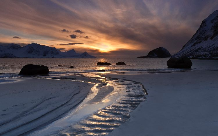 Lofoten Vikbukta Sunset