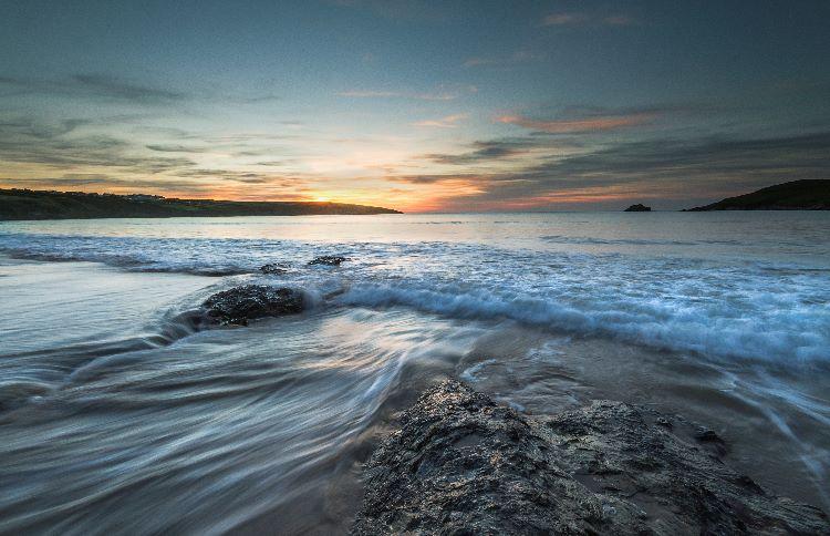 Sundown Crantock Bay