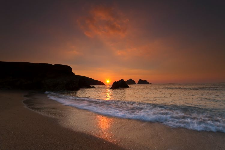 Sunset Holywell Bay
