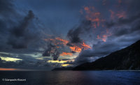 Tramonto verso 5 Terre e Punta Mesco (Liguria)