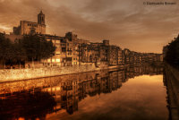 Girona al tramonto (Spagna)