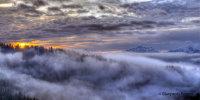 Tramonto Monte da Monte Pora (Lombardia)