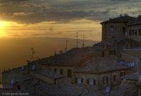 Volterra al tramonto (Toscana)