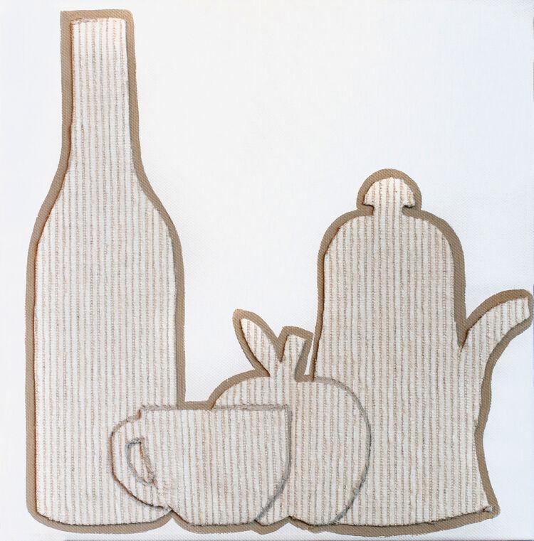 Fabrics-bottle,apple,and mug