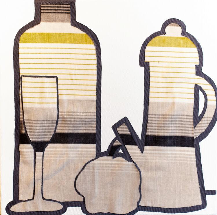 Fabrics-glass and coffee
