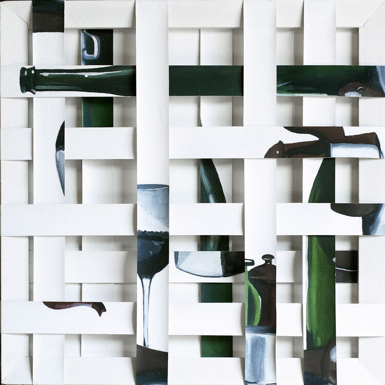 Still life- Bottle and glass