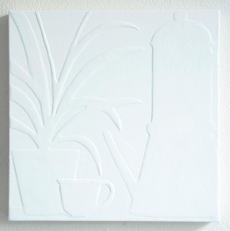 white-plant and coffee(danneggiato)