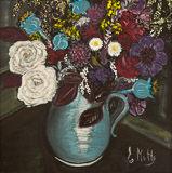 - Bouquet in Blue Jug -