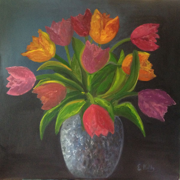 - A Vase of Tulips -