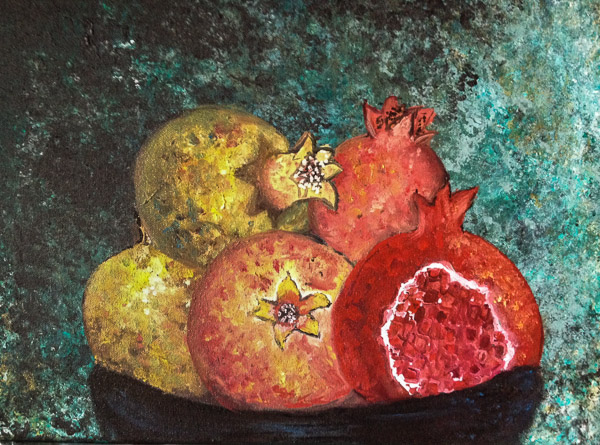 - Bowl of Pomegranates -