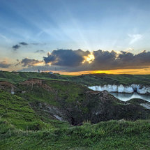 Flamborough sunset