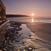 Filey beach sunrise