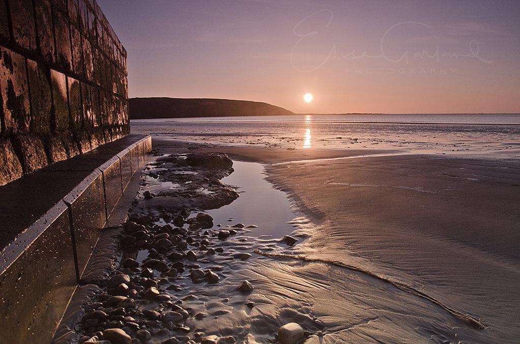 Filey beach sunrise: Elise Garland Photography