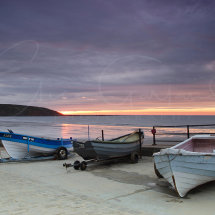 Filey Coble Landing at sunrise