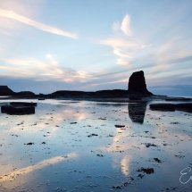 Saltwick bay reflections