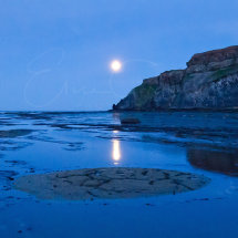 Moonlight over Saltwick Bay