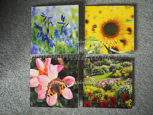 Square Summer Floral Greeting Cards