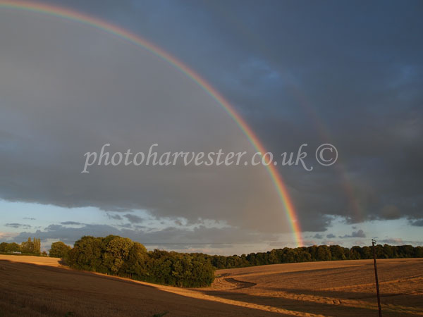 Double Rainbow over the Harvest