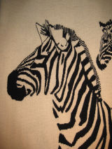 Zebras (detail) - zebra head