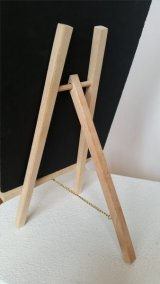 Each art plaque comes with a woodern easel.