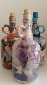 Decoupage Glass Bottle