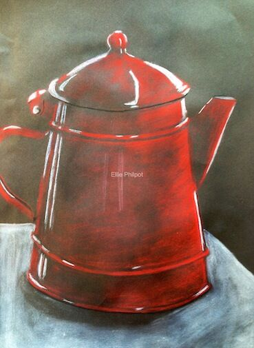 Coffee Pot. Greetings cards. PACK OF 5.