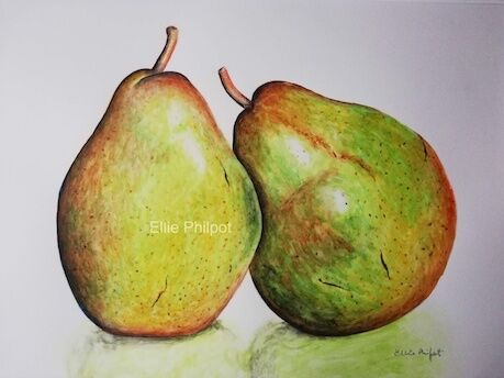Leaning Pears.