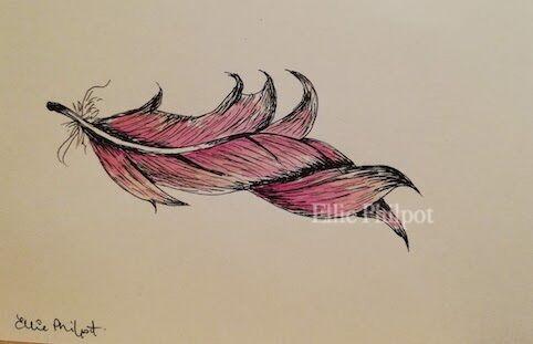 Feather 3. Postcard.