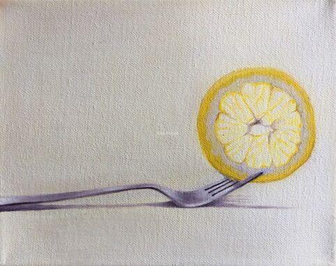 Lemony. Greetings card.