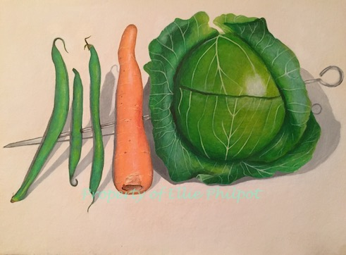 A Vegetable Kebab