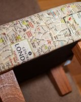 'London' footstool