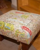 Funky London footstool