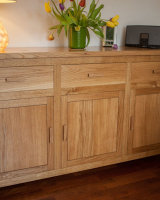 Beautiful handmade oak sideboard