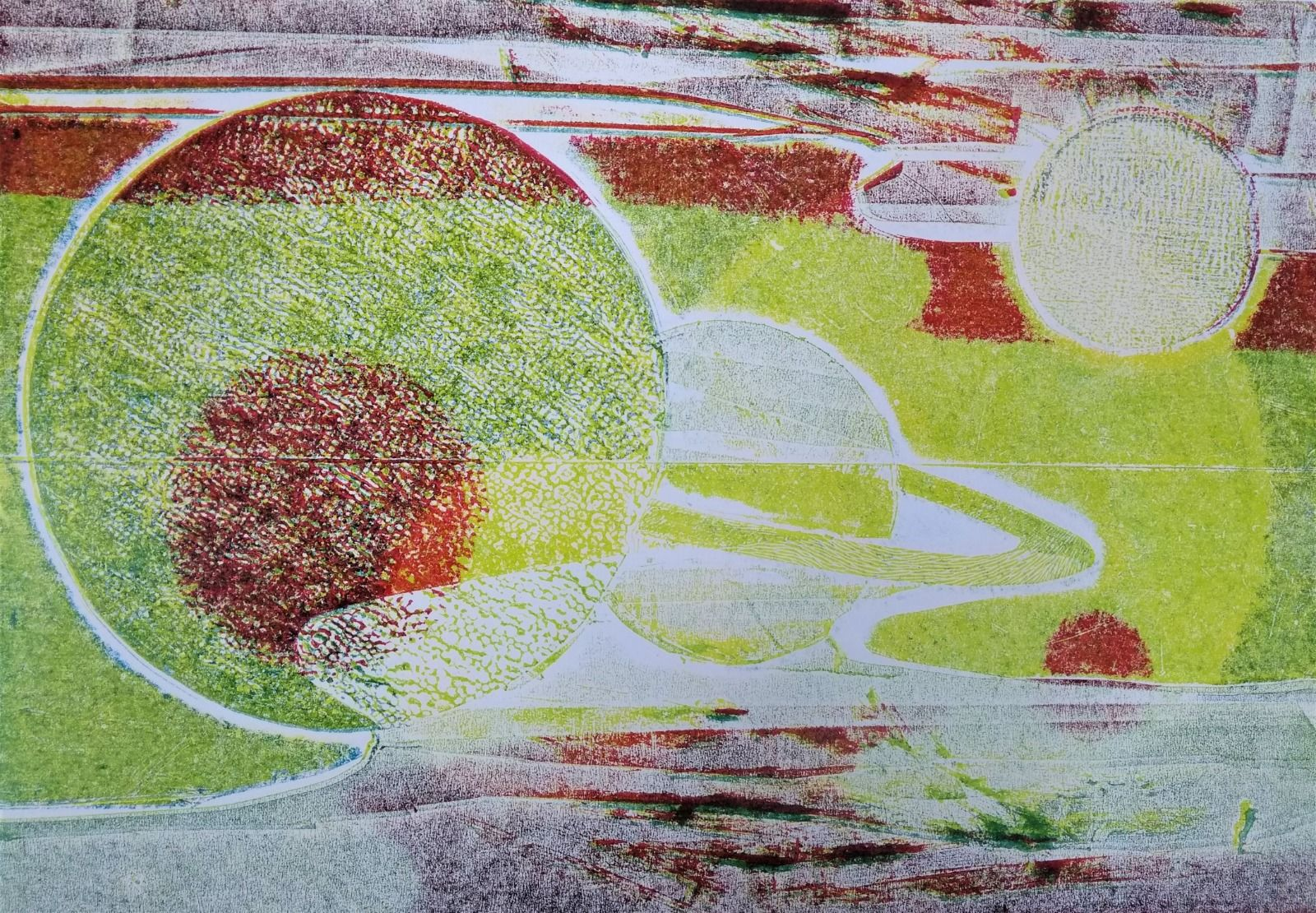 Collagraphy texture detail