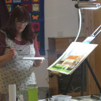 Caroline Demonstrating Mixed Media
