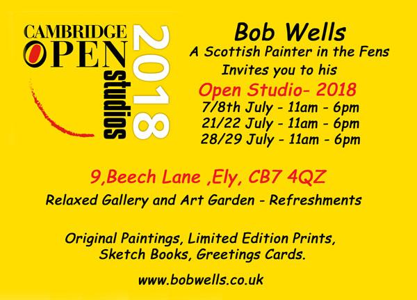 Bob Wells - Studio Invite 2018