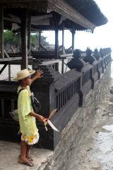 Child vendor, Tana Lot Temple, Bali