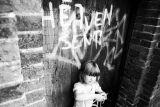 Child under graffiti, Hampshire
