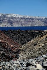 Volcanic rock on Nea Kameni, Santorini, Greece