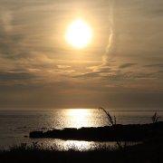 Sun going down in Cornwall