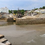 Harbour as tide is going out