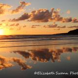 Beach sunset Saunton Down