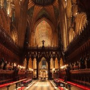 The Quire with Candles