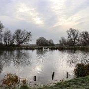 Wintery riverside