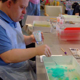 Marbling at Millers Day Centre Beverley