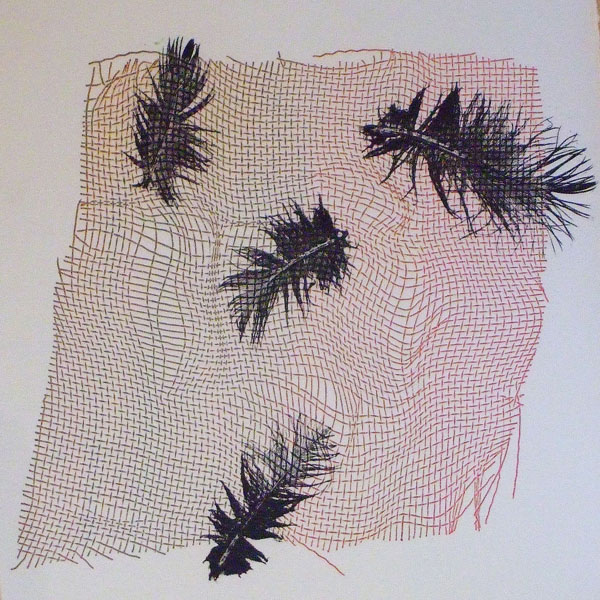 Mono prints inspired by nature; 1 day