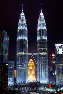 Petronas Towers at night