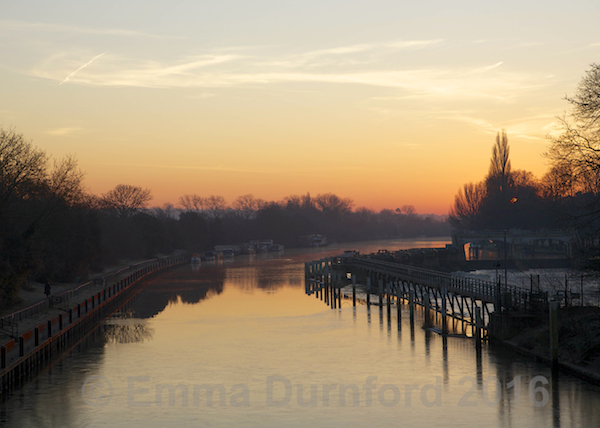The Thames upstream from Teddington